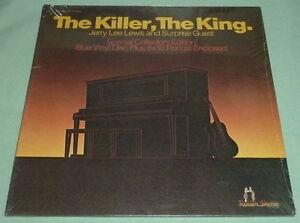 JERRY-LEE-LEWIS-The-Killer-King-LP-Blue-Vinyl-Rare-Orion-Elvis-Impersonator