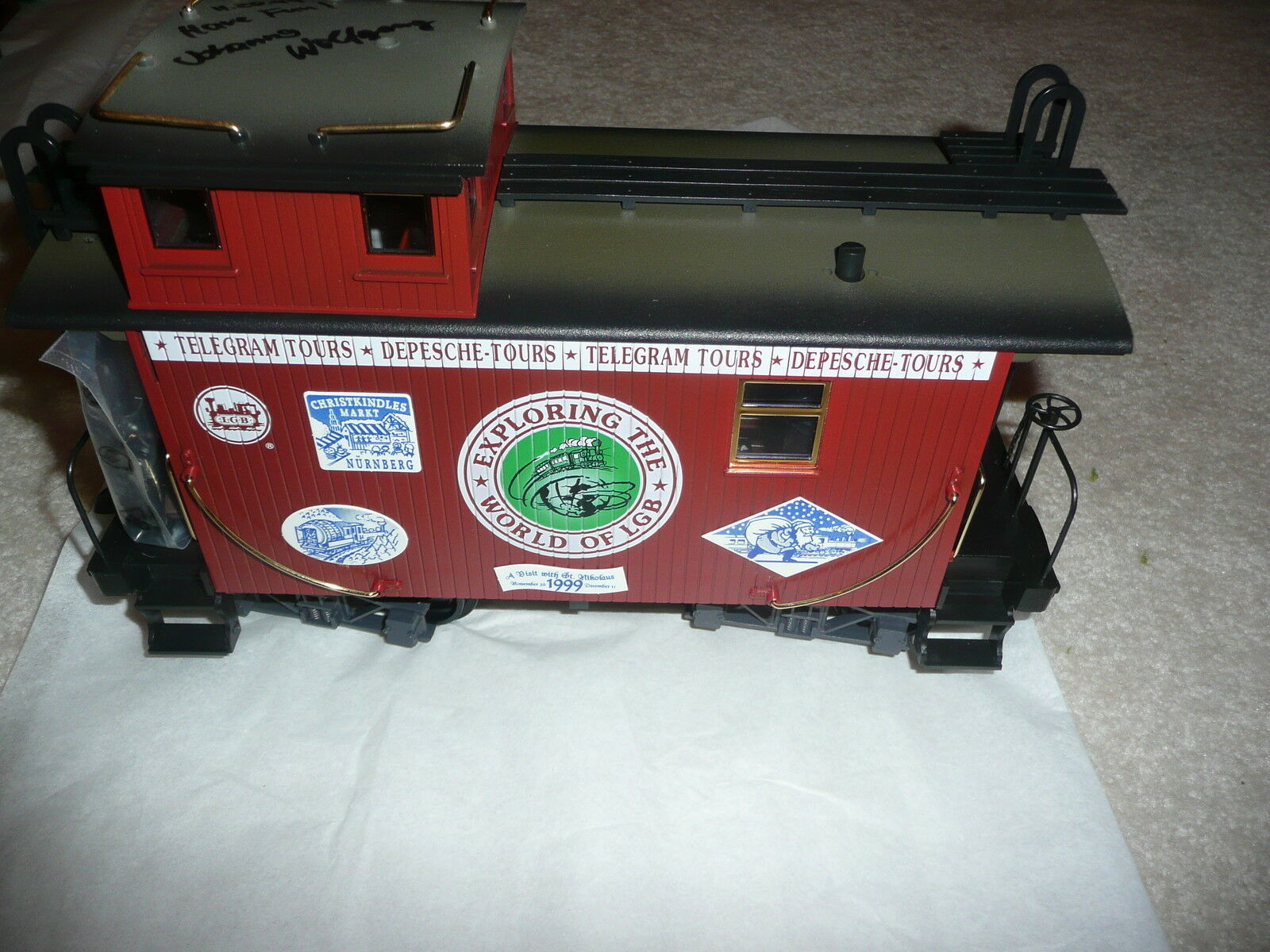 NEW - RARE LGB 1999 Narrow Gauge Caboose -  Signed by LGB Owners – (EA-H-0004)