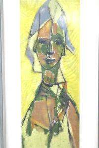 Original Gouache Mischtechnik Lotte Wolf Koch Impressionismus
