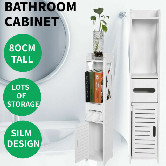 80cm Tall Bathroom Cabinet Furniture, Tall Bathroom Storage Cabinets