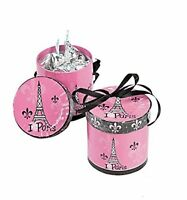 Perfectly Paris Hat Treat Boxes Set Of 8 Favors Candy Gift Girls Birthday Party