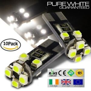 10x-T10-W5W-501-Wedge-CanBus-LED-No-Error-Free-HID-6000K-White-Bulbs-Side-Lights