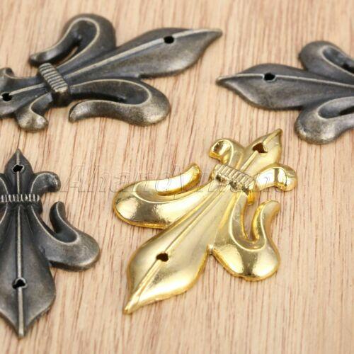 4Pcs Metal Jewelry Wooden Box Chest Feet Leg Corner Protector Guard Decorative