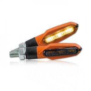 ►4X HALOGEN SCHWARZ SHARK MINIBLINKER Hond FX650 Vigor,Fireblade,VT 700 C,GL1500