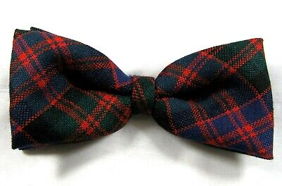 BOW TIE TARTAN MACDONALD MODERN WORSTED WOOL SCOTTISH MADE KILT HIGHLANDWEAR NEW