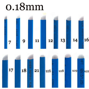 0-18mm-Laminas-Agulhas-Tebori-Microblading-Permanent-Makeup-Tattoo-Needle-Blades