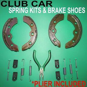 CLUB CAR GOLF CART BRAKE SHOES + SPRING KITS,1995 + DS & PRECEDENT,GAS &ELECTRIC