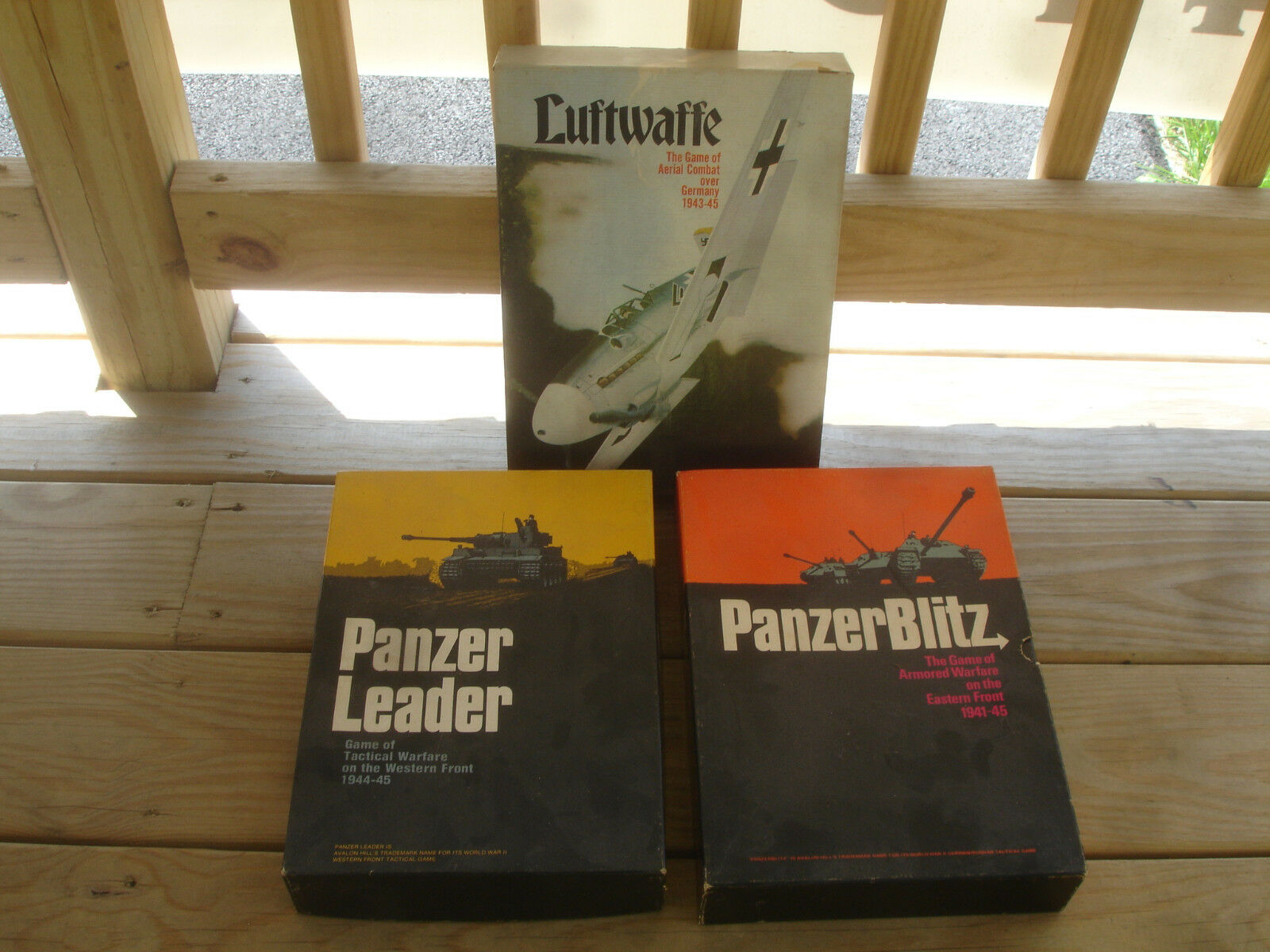 Panzer Leader ArmoROT Tactical Warfare Luftwaffe Board Bookcase Game LOT of 3