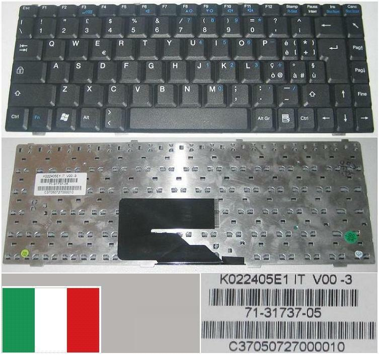 Italian qwerty keyboard fujitsu amilo v2030 v2035 k022405e1 71