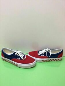 bfd5d18a06658 Details about VANS Lo Pro Red/Blue Canvas Lace Up Low Top Skate Shoes Mens  Size 9 Womens 10.5