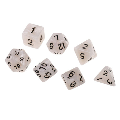 7Pcs Polyhedral Dice Set D4-D20 for Dungeons and Dragons MTG DND Party Toys