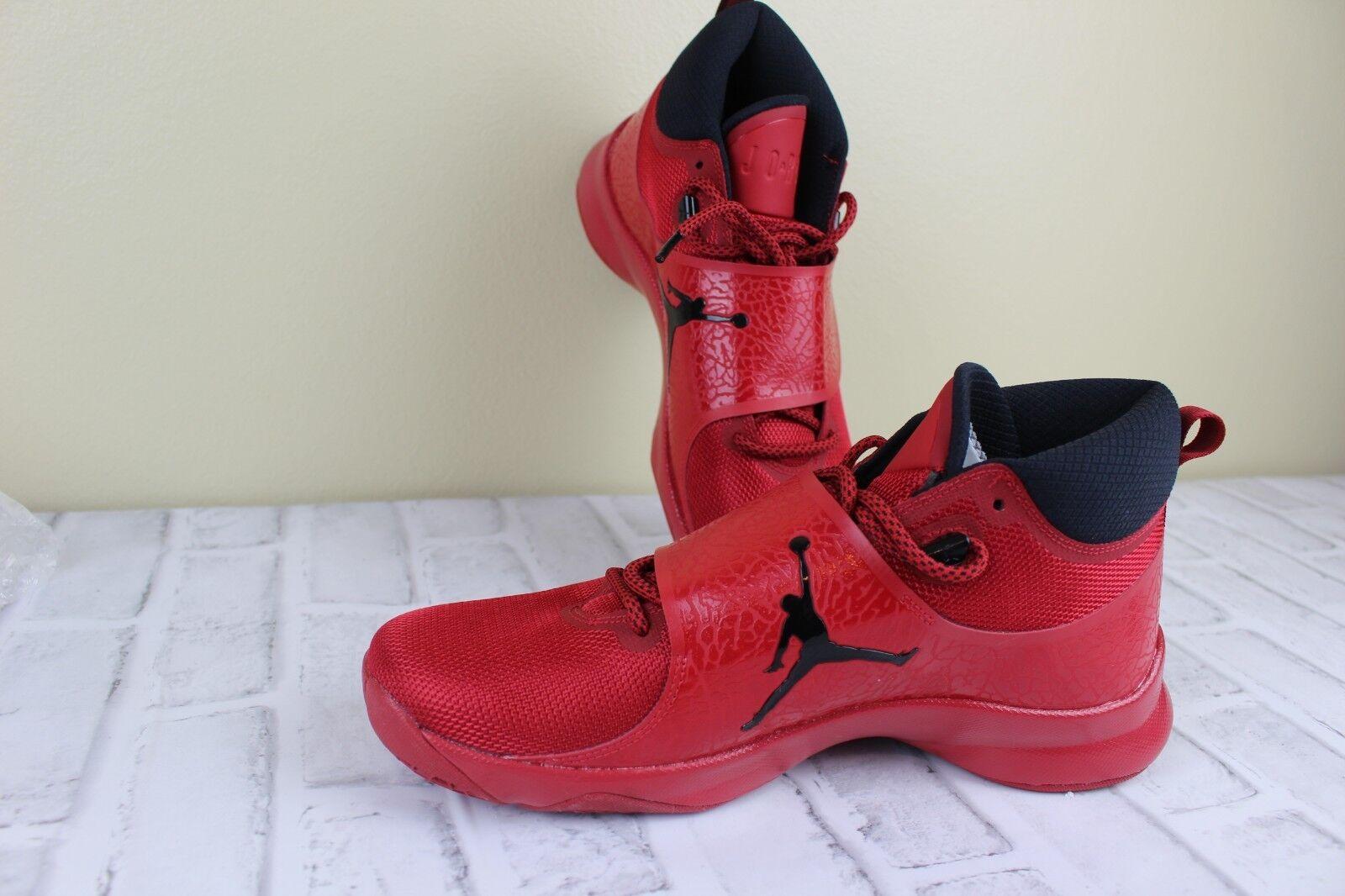NIKE Air Jordan Men's Super Fly 5 PO Red Basketball shoes Sz 10.5 881571-601