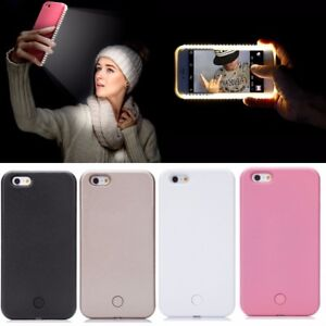 outlet store b12fe f6c33 Luxury LED Light Up Selfie Luminous Phone Back Cover Case For iPhone ...