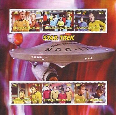 Central Africa 3h-1001 GroßE Vielfalt 2015 Star Trek Kirk Spock Mccoy Sulu Uhura