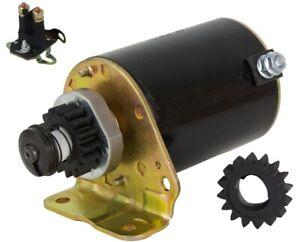 Anlasser-fuer-Briggs-amp-Stratton-11-16PS-mit-Magnetschalter-und-Ersatzritzel
