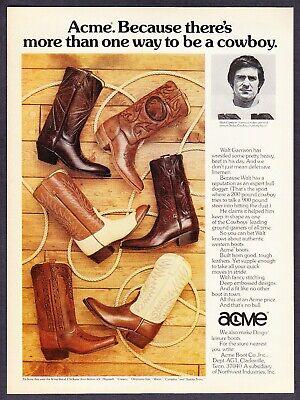 """Walt Garrison-Dallas Cowboys Skoal 1979 Print Ad-2 Pg 8.5 x 11/"""""""
