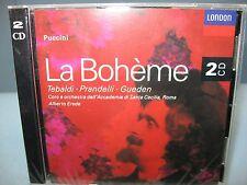 Puccini LA BOHEME, Tebaldi, Prandelli, Acad Santa Cecilia O/Erede 2CD London New