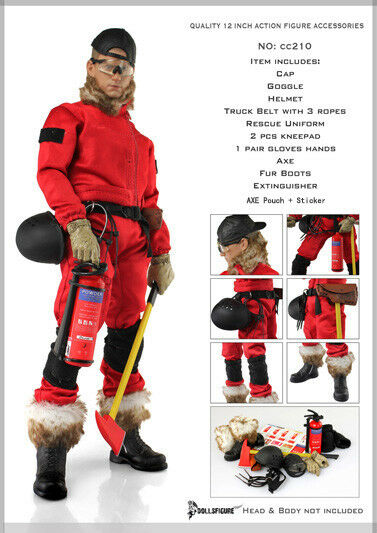 DOLLSFIGURE Male Forester Uniform & Accessory set for 1 6 Scale Action Figure
