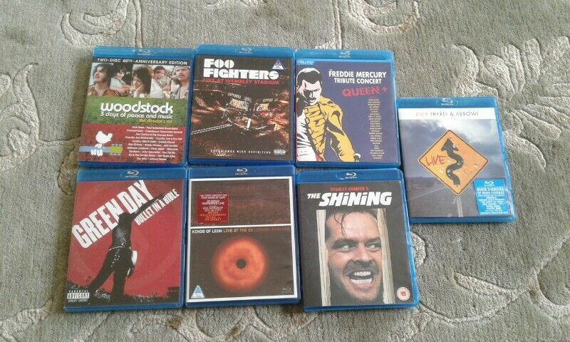 Music bluray and movie for sale