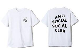 fcd33a4e7d7a Auth Anti Social Social Club ASSC Classic black Logo White Tee Shirt ...