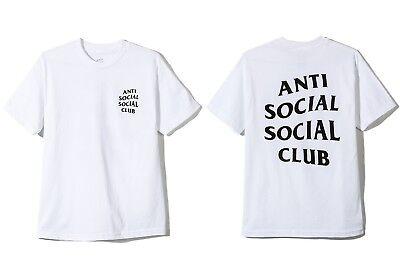 Auth Anti Social Social Club ASSC Classic black Logo White Tee Shirt  Supreme | eBay