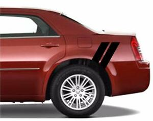 Chrysler 300 Rear 4 Fender Double Hash Bar Vinyl Racing Stripes
