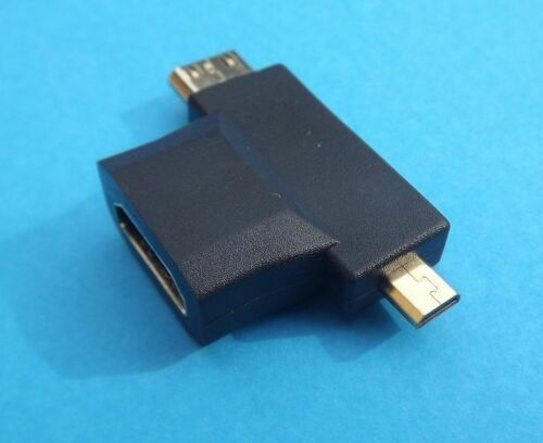 3 in 1 HDMI Female to Mini Micro HDMI Male Adapter Connector Gold Plated HD AU