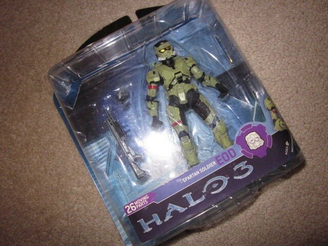 Halo 3 reihe 2  olive eod spartan  action - figur (xbox 360   1   x) mcfarlane neue