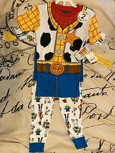 Kid Boys Girl Baby Toy Story Buzz Lightyear Woody Pajamas Outfit Set Pjs Clothes