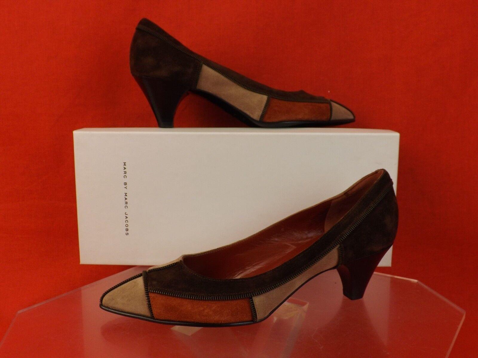 Nuevo En En En Caja Marc By Marc Jacobs Gamuza Marrón Bronceado moho con detalles de Cremallera Zapatos De Salón 39  399  envío rápido en todo el mundo