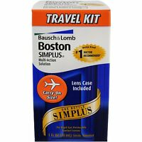 3 Pack Bausch - Lomb Boston Simplus Multi-action Solution Travel Kit 1 Each on sale