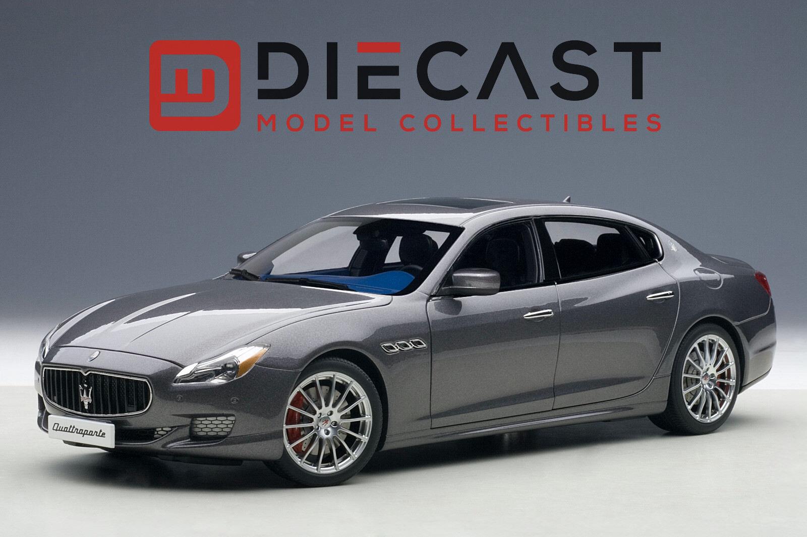Maserati gts autoart 75806 quattroporte 2015 (maratea grau) 1 18th skala