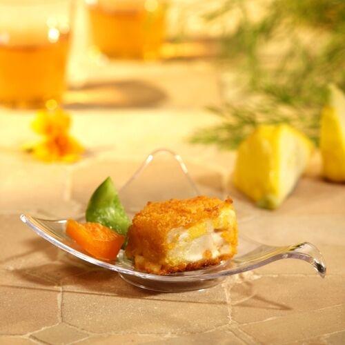 "50 Fingerfood Schale /""Dreieck/"" 7,7x9,5x9,5cm Catering PS glasklar FI015"