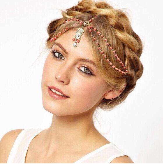 Fashion Women Girl Korean Style Metal Rhinestone Head Chain Headband Hair Band
