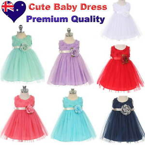 Tulle-Baby-Girl-Dress-Flower-Girl-1st-Birthday-Party-Infant-Dress-Size-00-to-1