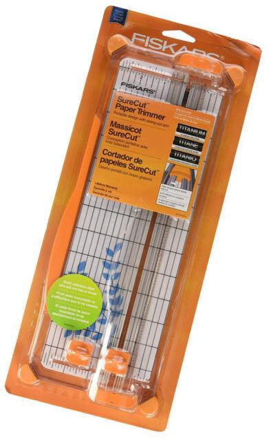 12-Inch Cut Length Fiskars SureCut Deluxe Craft Paper Trimmer 1298937797