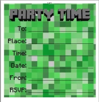 Invites with Official Minecraft Sticker!