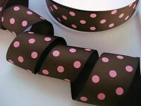 "50 yard Spool Grosgrain Polka Dot 1.5"" Ribbon/Polyester/Wholesale/Craft R20-Roll"