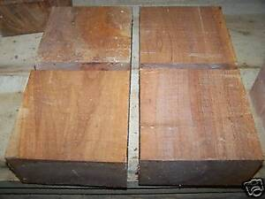 FOUR-4-RED-SYCAMORE-BOWL-BLANK-LATHE-TURNING-BLOCK-WOOD-LUMBER-6-X-6-X-3-034