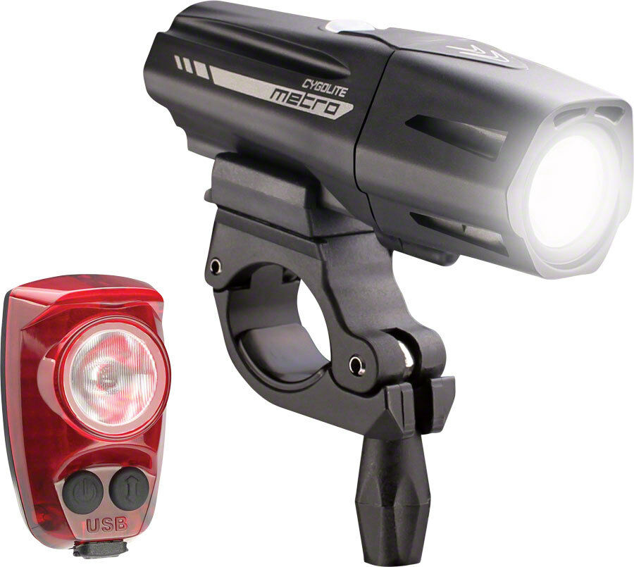 Cygolite Metro Plus 800 LED Front  Headlight + HotShot Pro 150 Rear Light Set USB  comfortable