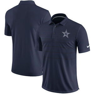 NFL Dallas Cowboys Men s Navy Sideline Early Season Performance Polo ... d3076a43b