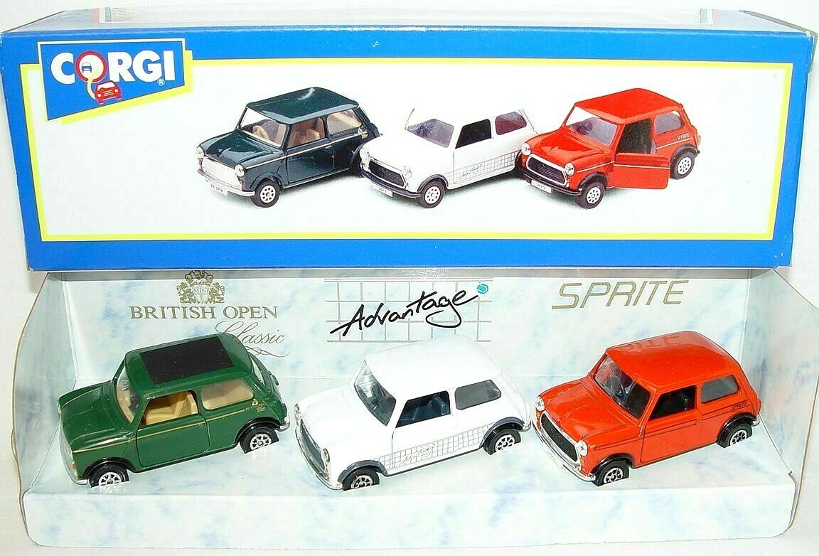 CORGI TOYS 1 36 Morris Mini Cooper British Open avantage Sprite 3 voiture Set MB`92