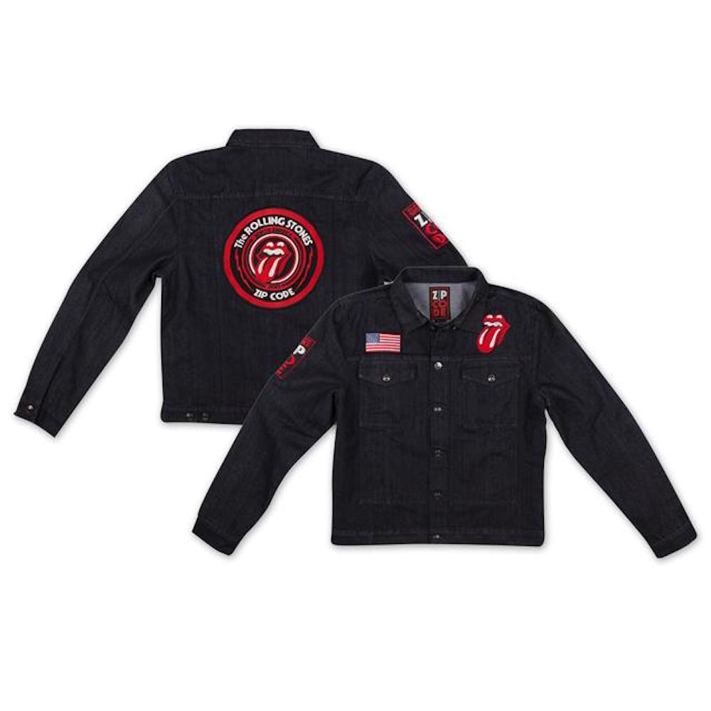 The Rolling Stones - Zip Code Tour - Official Mens Denim Jacket