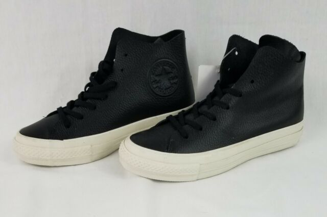 2be6fed3ba1e13 Converse Chuck Taylor All Star Prime High Top Zoom Air Black Leather 154836C
