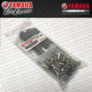 NEW-1994-2016-YAMAHA-YZ85-YZ-80-85-OEM-FRONT-WHEEL-SPOKE-SET-4ES-25104-20-00