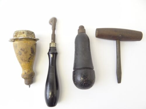 Antique Awling Screw Driver Leatherworking Punch Hand Tools Parts Used Old