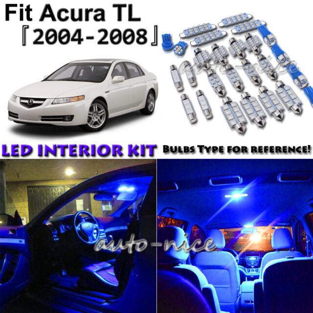 11x Blue LED Interior Lights Package Kit For 2004 2005