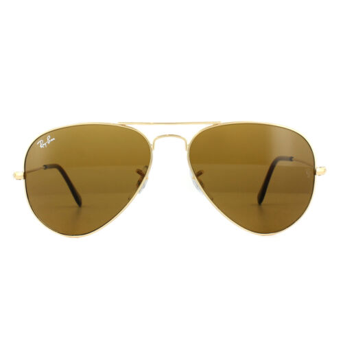 Da Oro 55mm 3025 Aviator ban Sole Ray Occhiali 33 Marrone 001 wqv7xXfY