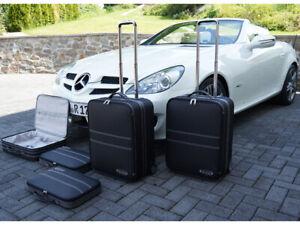 2005-2011 Black Luxury Tailored Car Mats COLOURED BINDING Mercedes SLK R171