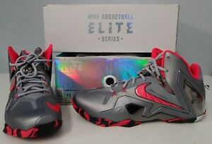 info for 83e70 ac212 Image is loading Nike-Lebron-XI-Elite-034-Wolf-Grey-034-